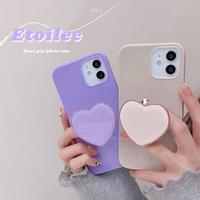 Ivory purple heart grip iphone case