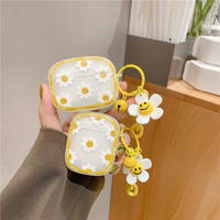 Smile daisy pattern airpods case