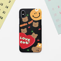 Love eat hard with grip case  (Black)  548