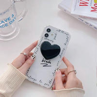 Black love grip iphone case