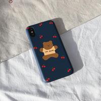 Jumping cherry bear hard case (Navy) 216