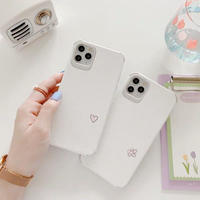 Petite heart flower white iphone case