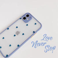 Bluegrey heart color side iphone case