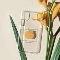Mini tangerine clear iphone case