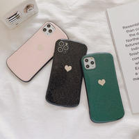 Heart glitter 3colors iphone case