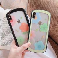 Flower green black color side  iphone case