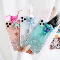Troll color glitter iphone case