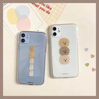 Brother bear dog clear case