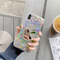 Big glitter mirror iphone case