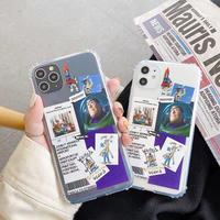 Cartoon scrap clear iphone case