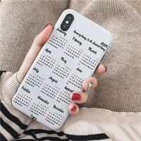 2019 Calendar iphone case