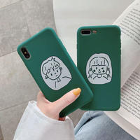 Couple green  iphone case