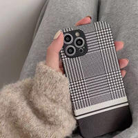 Black check simple iphone case