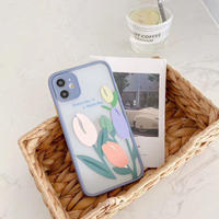 Tulip bluegrey side iphone case