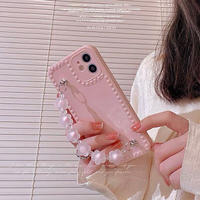 Small pink strap iphone case