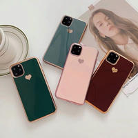 Autumn metal color heart iphone case