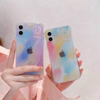 Happy smile color gradient iphone case