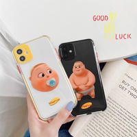 Baby yellow black color side iphone case