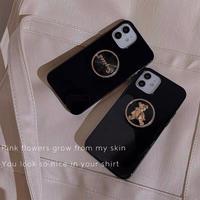 Black gold grip iphone case