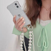 Love yourself pearl strap iphone case