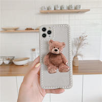 Big teddy bear with grip iphone case
