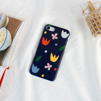 Color flower hard/clear case 087