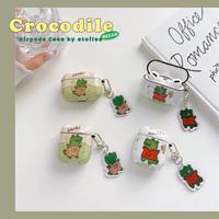 Crocodile strap airpods case