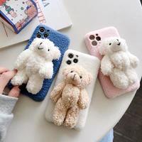 Teddy bear doll fur iphone case