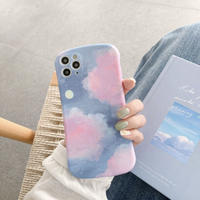 Pink cloud iphone case