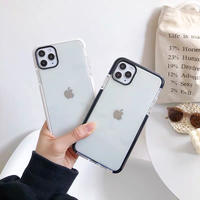 Simple white black side iphone case