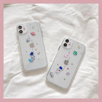 Astronaut galaxy clear iphone case