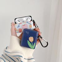 Tulip white navy airpods case