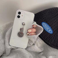 Silver smile clear iphone case