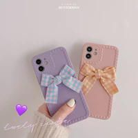 Check ribbon iphone case