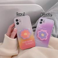 Gradient flower grip iphone case