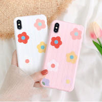 Flower white pink iphone case