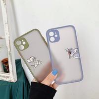 Mouse cat apple color side iphone case
