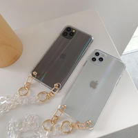 Hologram clear strap iphone case