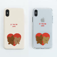 If love hard/clear case (red) 517