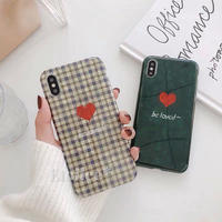Green check heart iphone case