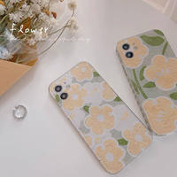 Big small yellow white flower iphone case