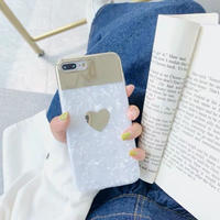 One heart shell mirror iphone case