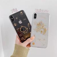 Pig unicorn glitter  iphone case