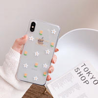 Happiness as flowers clear iphone case