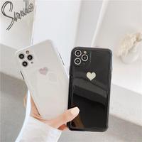 White black hologram heart iphone case