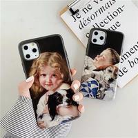 Boy girl black iphone case