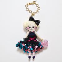 Sequins Dress Doll Charm