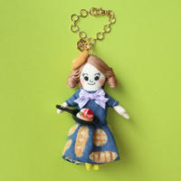Pancake/Navy Blue Doll Charm