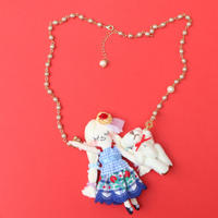 Teddy Bear Friend(White) Necklace