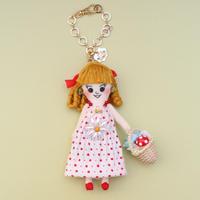 Polka Dot Mushroom Doll Charm
